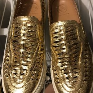 Tory Burch Shoes - Size 7 huarache Tory sneakers in gold